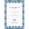 Deep Blue Damask Wedding Invitation